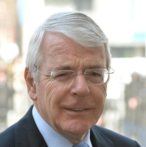 Banbury Cake: Sir John Major has said the results of the European elections will help PM David Cameron's plans to renegotiate Britain's EU membership