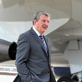 Roy Hodgson, pictured, has arrived in Miami with his England squad