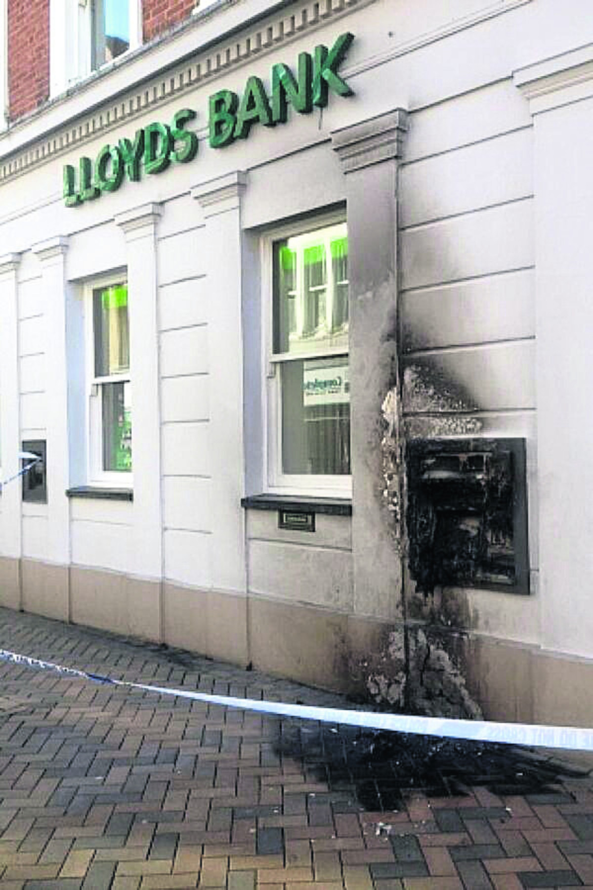 The Lloyds Bank branch targeted by the arsonist