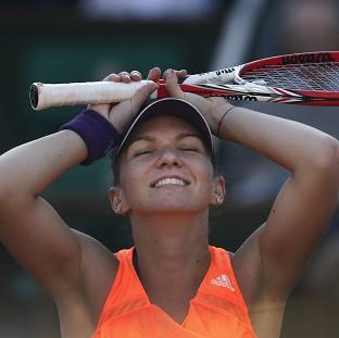 Simona Halep is through to the French Open final (AP)