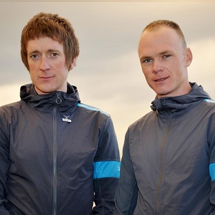 Sir Bradley Wiggins, left, is unlikely to join Chris Froome at the Tour de France