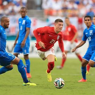 Second half substitute Ross Barkley, centre, impressed for England