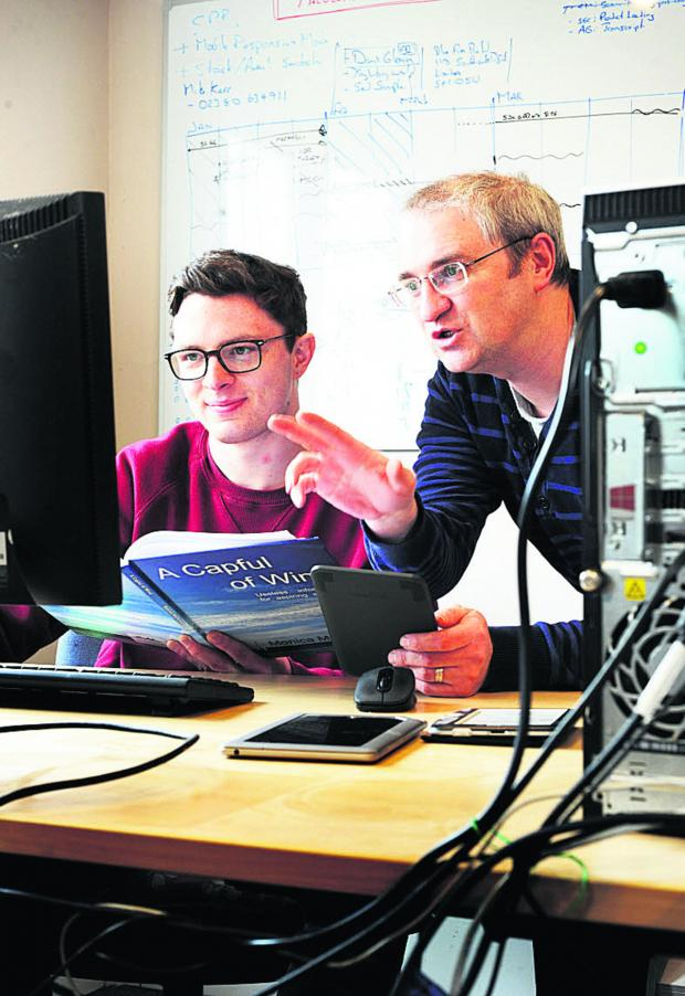 Banbury Cake: Apprentice Nick Bracey, left, with Andy Severn, who runs Oxford e-Books