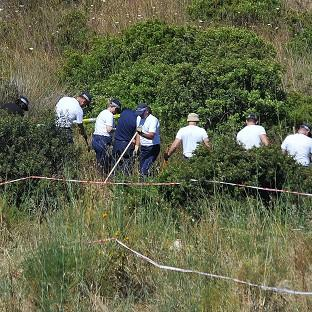 Banbury Cake: Police investigating the disappearance of Madeleine McCann in Portugal search a patch of scrubland