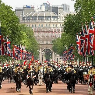 Banbury Cake: Troops from the Household Cavalry march along the Mall to Buckingham Palace following the Trooping the Colour ceremony