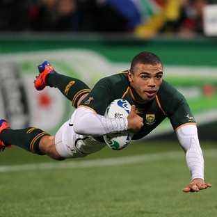 Bryan Habana scored a pair of tries for South Africa