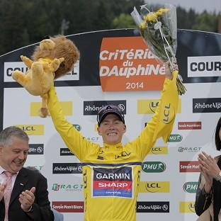 Andrew Talansky, pictured, claimed the Criterium du Dauphine title (AP)