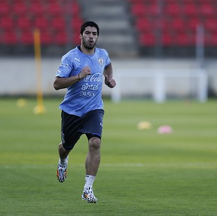 Uruguay's Luis Suarez claims he is ready to face England (AP)