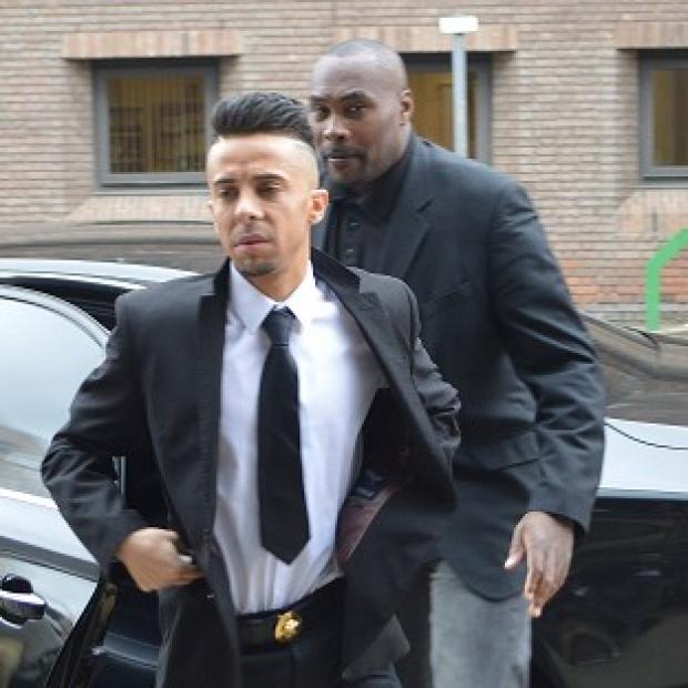 Banbury Cake: Dappy arrives at Chelmsford Magistrates' Court with a minder