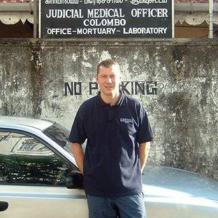 Police trainer David Collins, 45, who has won an out-of-court settlement after he suffered post-traumatic stress disorder after working in a mortuary in Sri Lanka following the 2004 Tsunami (Irwin Mitchell)