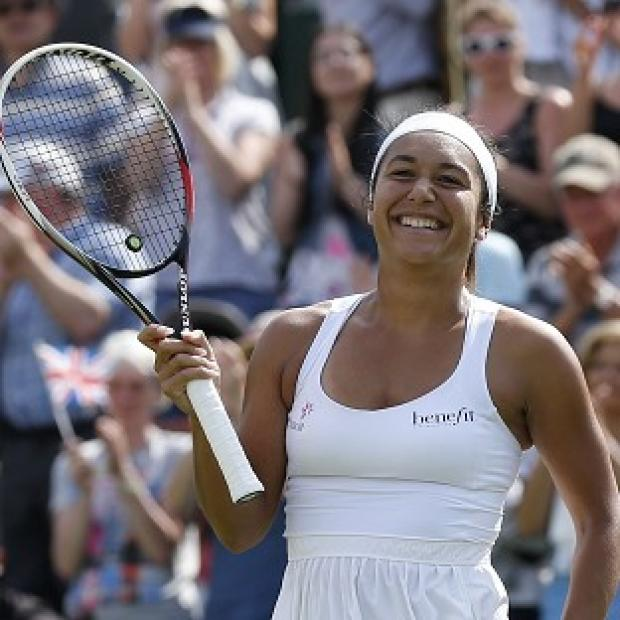 Banbury Cake: Heather Watson, pictured, defeated Ajla Tomljanovic in straight sets