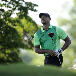 Tiger Woods recorded a three-over 74 at Bethesda (AP)