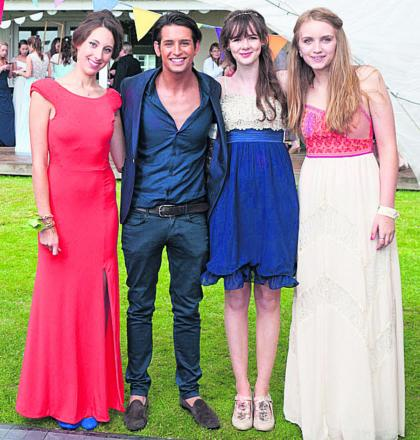 Ollie Locke with, from left, Becky Sleath, Alice Abrey and Jade Spencer