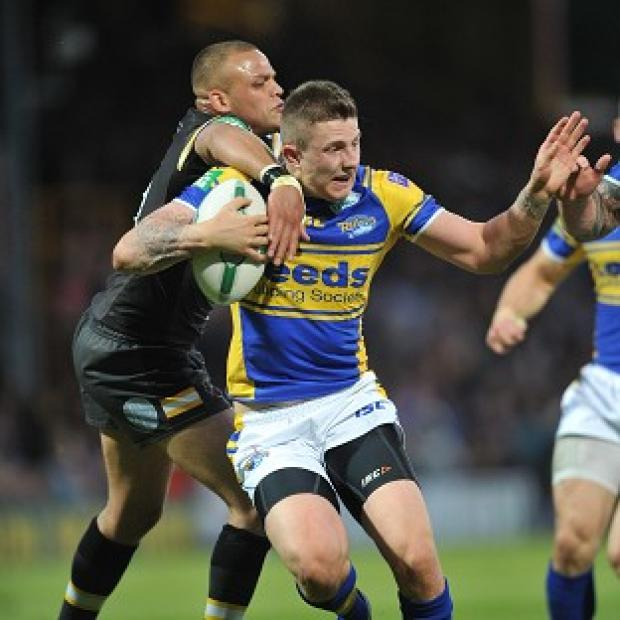Banbury Cake: Leeds Rhinos' Liam Sutcliffe kept his nerve late on as his side beat Catalan Dragons