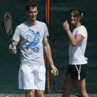 Amelie Mauresmo, right, feels right at home in Team Murray
