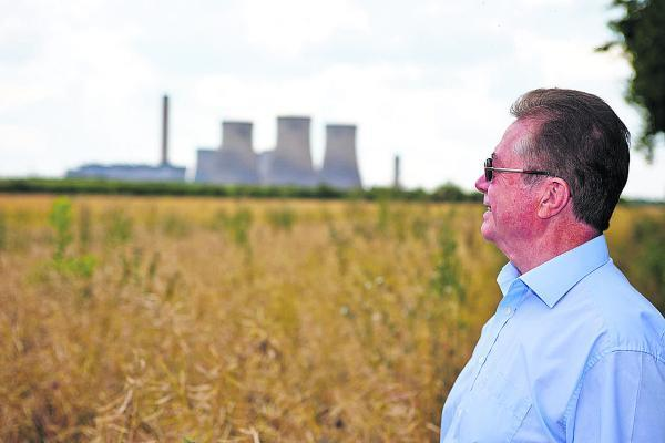 Banbury Cake: Neighbour Michael Jenkins looks towards Didcot Power Station