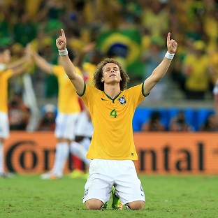 David Luiz, pictured, will captain Brazil against Germany in the absence of Thiago Silva