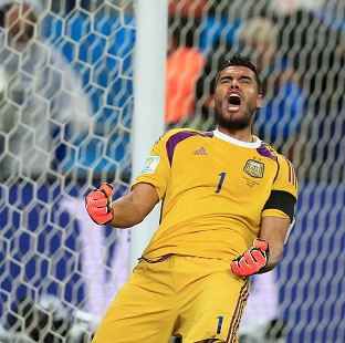 Sergio Romero is determined to make history in Brazil