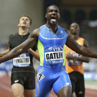 Justin Gatlin was in sparkling form in Monaco (AP)