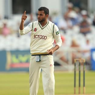 Yorkshire's Adil Rashid celebrated his season's best figures of four for 27