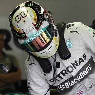 Lewis Hamilton made it three from three practice sessions in Hungary (AP)