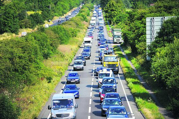 This was the scene on the A34 near Hinksey earlier in the week