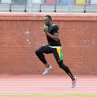Usain Bolt has been putting in the hard yards ahead of his Commonwealth Games bow