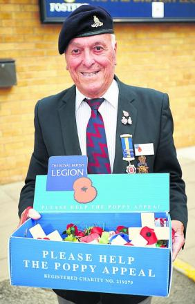 Jim Lewendon is handing on the baton as county chairman of the Royal British Legion but will continue to do his bit for the annual Poppy Appeal. Picture: OX69017 Cliff H