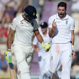 James Anderson, right, will definitely be free to play the final two Tests of the series