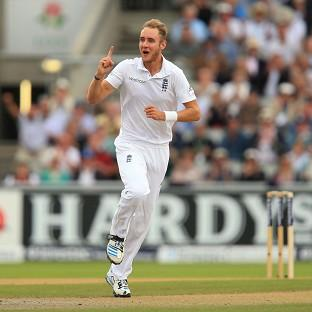 Stuart Broad, pictured, and James Anderson each took two wickets early on
