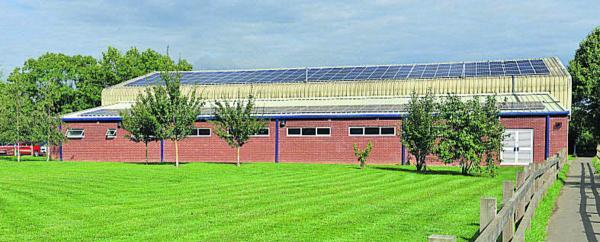 Solar panels at the Warriner School in Bloxham