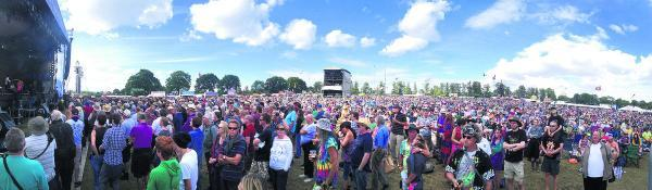 PACKING THEM IN: The sun shines at this year's Cropredy Festival