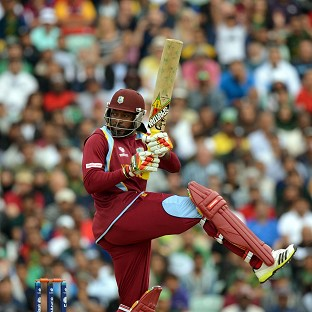Chris Gayle hit a half century for the West Indies