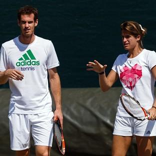Coach Amelie Mauresmo will travel with Andy Murray for 25 weeks each year