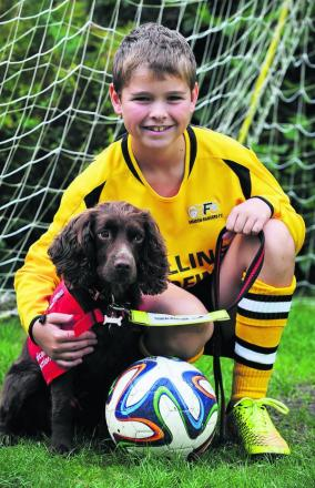 Medical 	    	     detection dog Molly can work out when 11-year-old Steven Courtney, who has type one diabetes, is starting                  to suffer dangerously low blood sugar levels 		     Picture: OX69349 Jon Lewis
