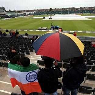 Rain has delayed the start of the Royal London One Day International at the Bristol County Ground
