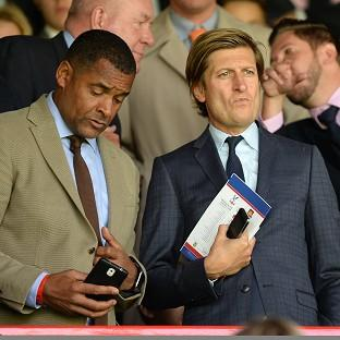 Steve Parish, right, has admitted struggling to secure a replacement for Tony Pulis at Crystal Palace