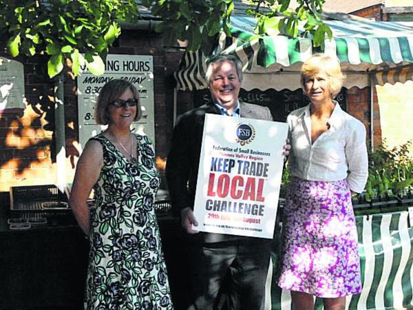 KEEP IT LOCAL: From left, Margaret Coles of the Federation of Small Businesses with MP Sir Tony Baldry and Julia Colegrave from Wykham Park Farm shop, near Banbury