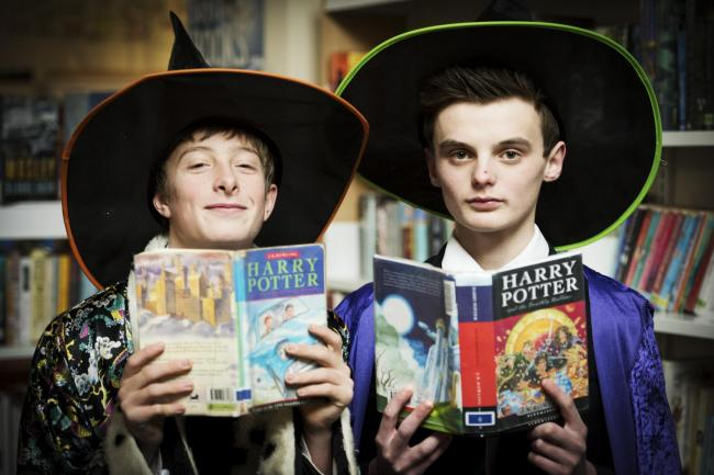 Burford Schools students Duncan Cooper (Ron Weasley) and Ollie Stacey (Draco Malfoy) were the models for Ron Weasley and Draco Malfoy in the first illustrated Harry Potter