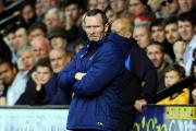 Michael Appleton looks on during Oxford United's heavy defeat at Cambridge in October, a result he now views as important