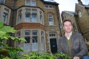 Award: Robin Sporn outside the house his firm renovated in Norham Road, North Oxford