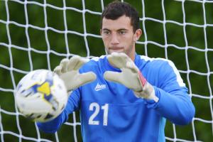 Oxford United's Max Crocombe made to wait for international debut