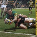 Banbury Cake: George North scored two tries before going off with a head injury