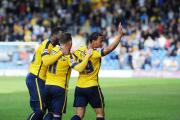Kemar Roofe celebrates his goal