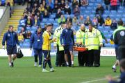 Johnny Mullins is stretchered off