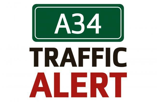 Delays and traffic on the A34 and A44