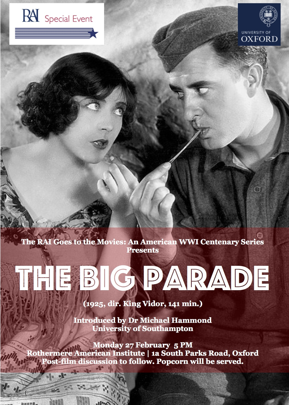 The RAI Goes to the Movies: An American First World War Centenary Series - The Big Parade