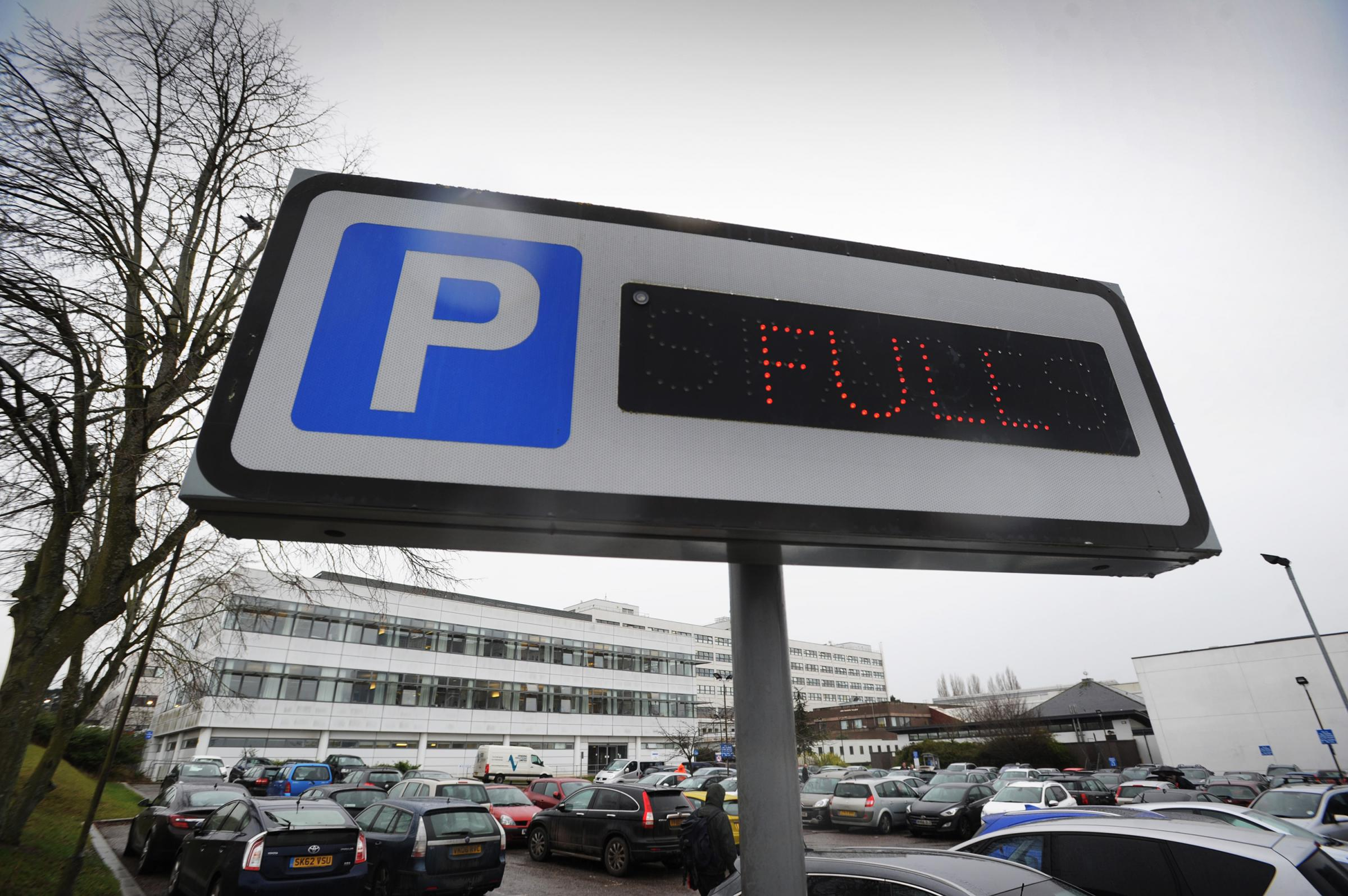 Hospital parking signs. Pic: Damian Halliwell