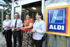 Staff from the Let's Play Project and Aldi Banbury re-open the Ruscote Avenue store