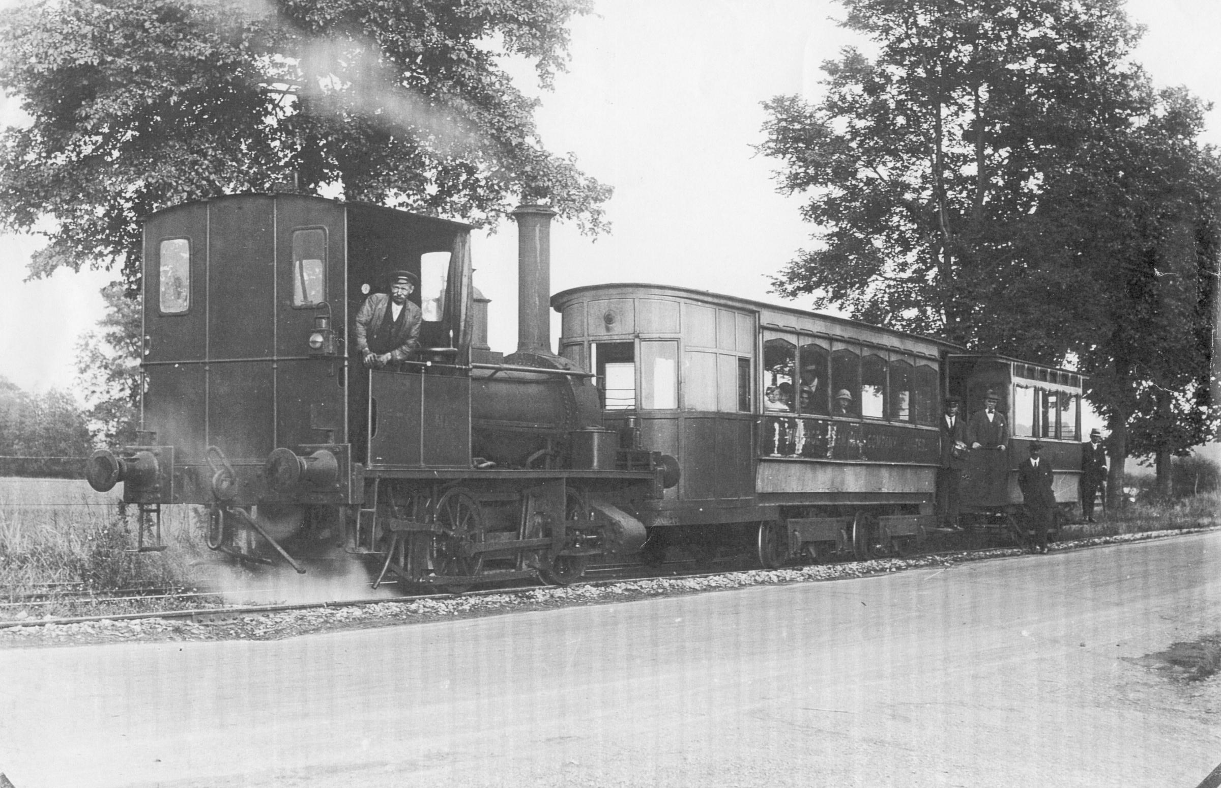 One of the old steam-powered trams on the Wantage Tramway